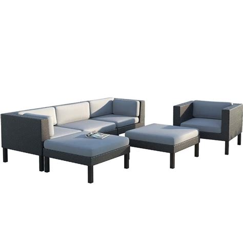 6 Pc Sofa Chaise Lounge Chair Patio Set Ppo 805 Z Sofa And Chaise Lounge Set