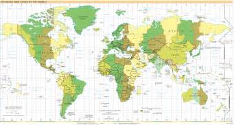 Time Zone Map Of The World by Time Zone Calculator