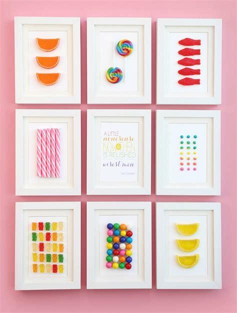 como hacer cuadros infantiles cuadros de caramelos y chuches diy