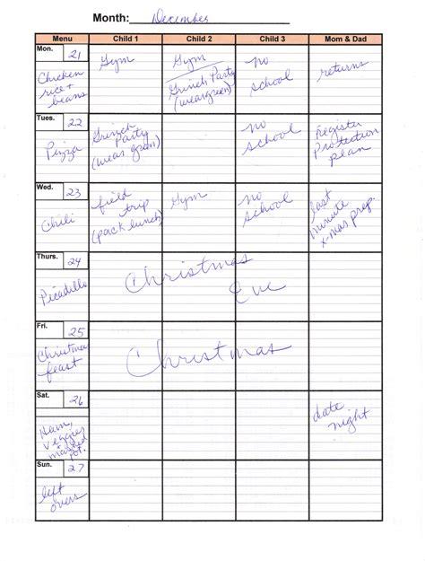 printable calendar 2015 home life weekly