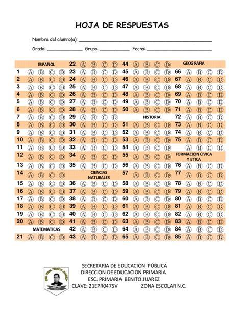 guia de 5 grado de primaria con respuestas respuestas examen de 5 grado de primaria 2016 lainitas