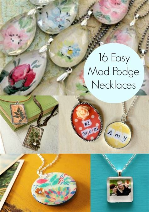 Decoupage Jewellery - decoupage jewelry 16 easy necklace projects decoupage