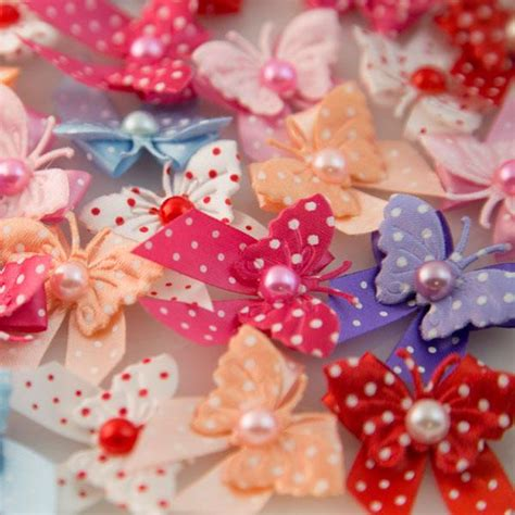 Playette 2 In 1 Support Butterfly Dot s grooming bows 24 pcs polka dot butterflies prima usa