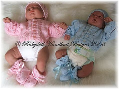 Set Cardi Rkibbon ravelry premature baby cardigan hat and bootees set
