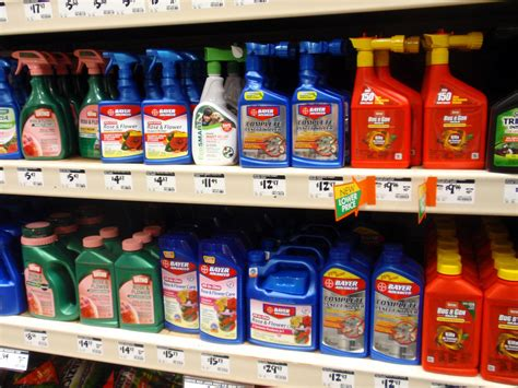 Shelf Of Pesticides by Wash State Pressed To Save Honey Bees By Restricting