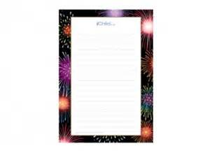 fireworks lined writing paper template ichild