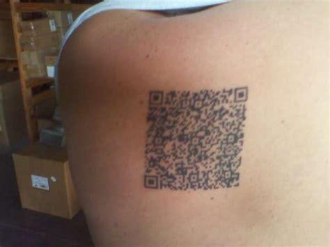 qr code tattoo qr code