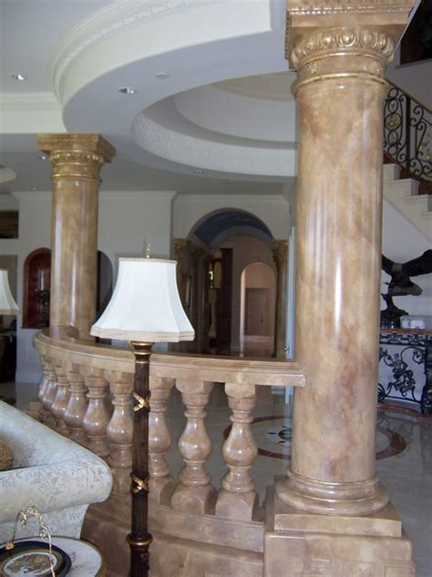 faux painted columns painted marbles faux columns and mantles