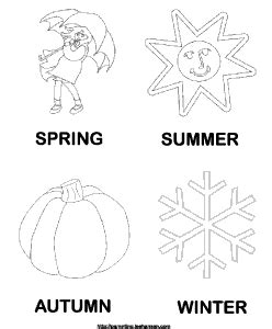 seasons coloring pages preschool preschool four seasons coloring pages coloring page