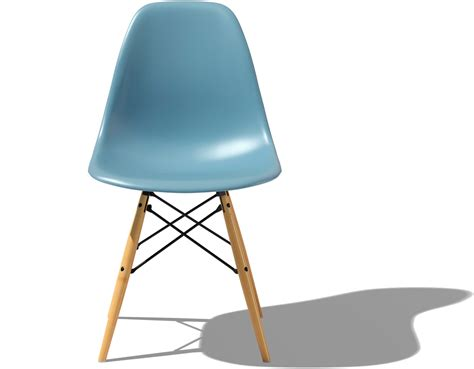 herman miller eames eames 174 molded plastic side chair with dowel base