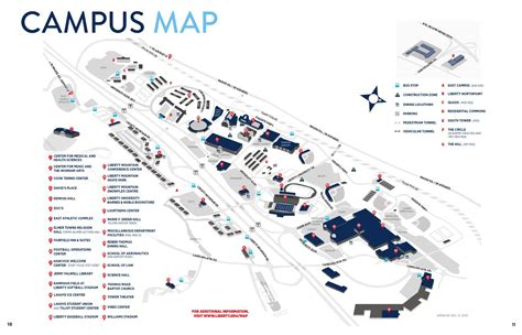 liberty university cus map 2016 spring visitor guide cus map by liberty university