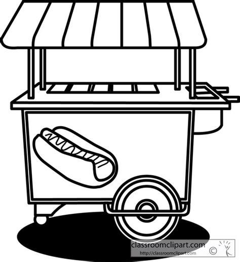 Food Cart Coloring Page | food cart coloring pages