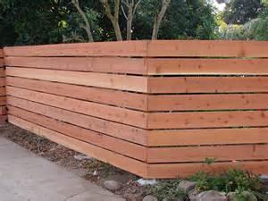 Horizontal Wood Fence Design Wood Fence