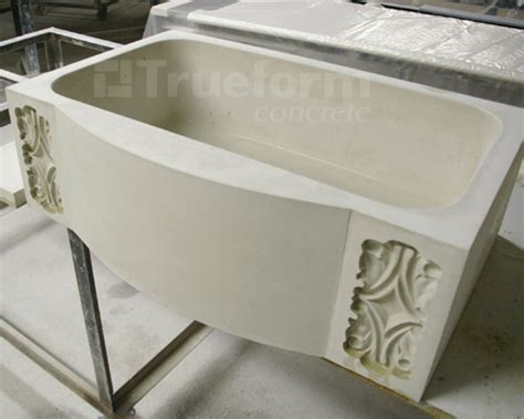 Concrete Farm Sink Custom Design Trueform Decor