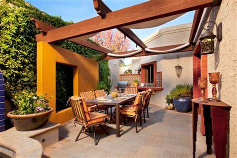 retractable patio covers patio mediterranean with wall