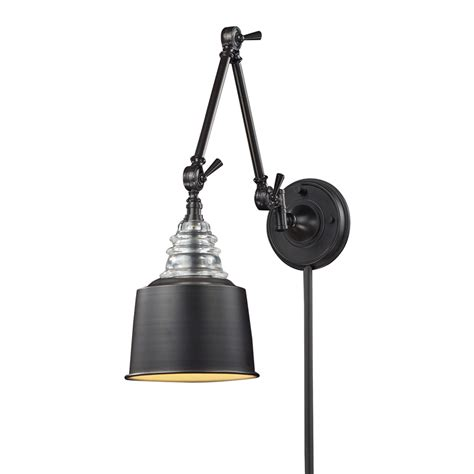swing arm light wall mount shop westmore lighting 18 in h oiled bronze swing arm led