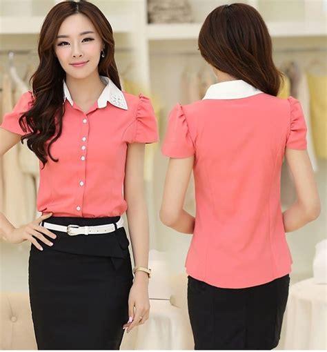 Baju Atasan Murah Wanita Vinaya Top Pink Limited kemeja wanita lengan pendek import model terbaru jual murah import kerja