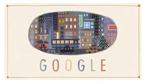 google theme yesterday happy holidays google logo day two same theme but with