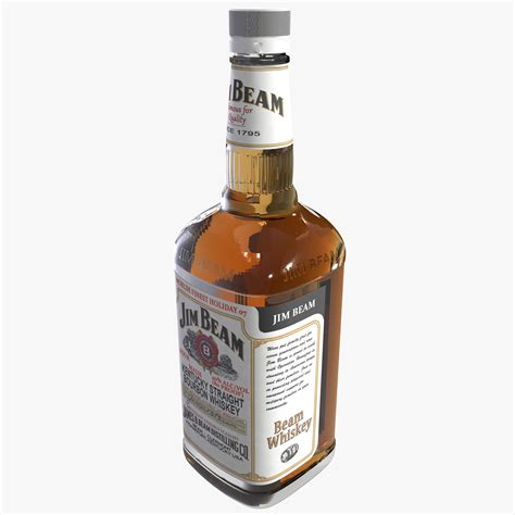 Botol Jim Beam jim beam bottle bourbon 3d max