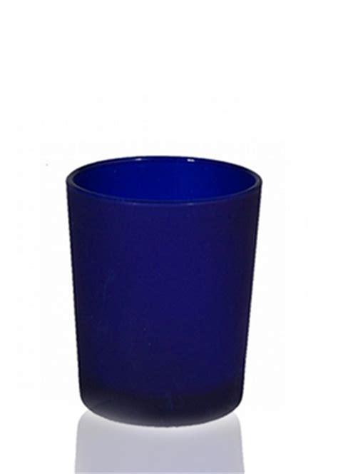cobalt blue tea light candle holders candelabra frosted glass dark blue tealight votive
