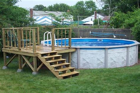 pool deck bauen pdf diy how to build a above ground pool deck