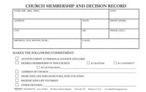 decision card template application for church membership form acm 5 b h