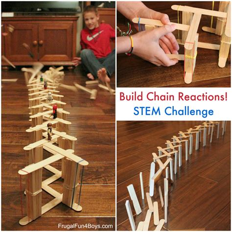 chain reaction challenge simple popsicle stick chain reactions