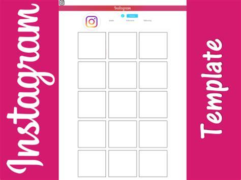 Instagram Template Worksheet Homework By J Leemosley Teaching Resources Tes Instagram Feed Template