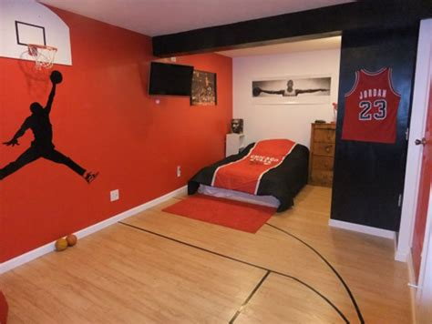 sports themed bedroom ideas 20 sporty bedroom ideas with basketball theme home design and interior