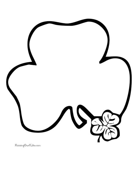 printable shamrock images free printable shamrock coloring pages 007