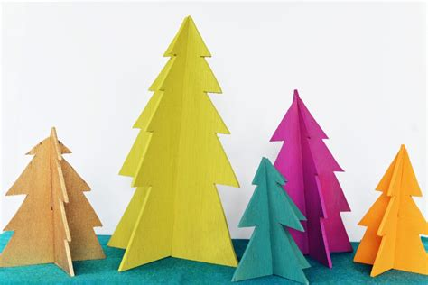 Xmas Decorating Ideas Home Diy Modern Wooden Christmas Trees