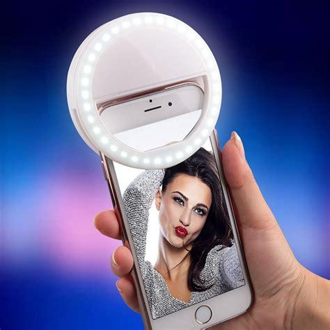 Selfie Ring Light Charge led ring selfie light brightness for phones white