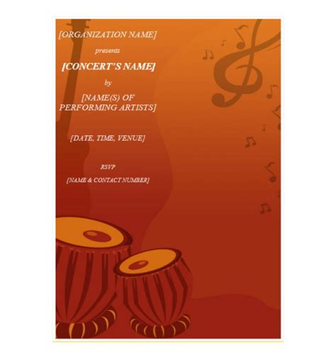 concert invitation card template concert invitation template concert invitations