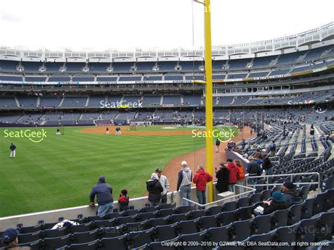 section 126 yankee stadium yankee stadium field level 128 seat views seatgeek