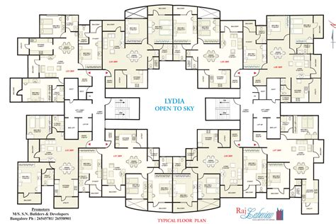 floor layout plans snn builders raj lakeview bangalore discuss rate review comment floor plan brochure