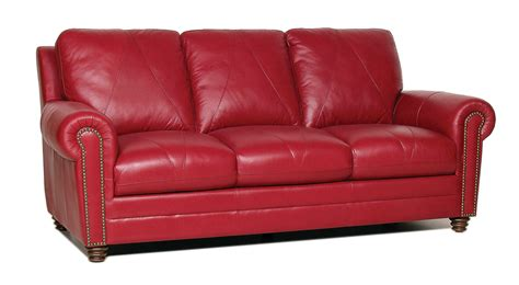 leather couch chair new luke leather quot weston quot cherry red italian leather 3pc