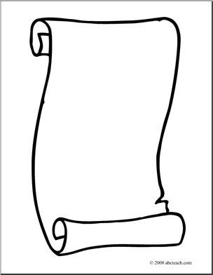 Clip Art Scroll 3 Coloring Page Abcteach Scroll Coloring Page