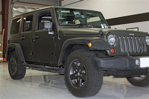 jeeps matte black matte black jeep wrap fort worth zilla wraps