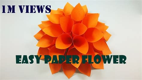 How To Make A Big Paper - how to make a paper flower diy wall decor big