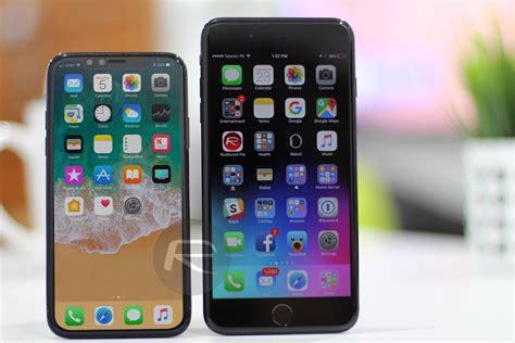 fotoserie iphone x vergelijkt het scherm met andere iphones