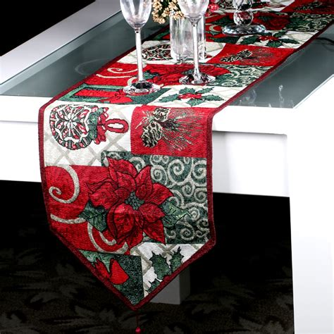 new year cloth decoration style table runner for wedding bed runner new