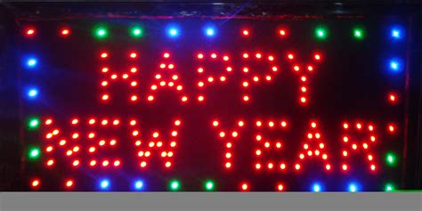 new year signs selling customerized animated led happy new year sign