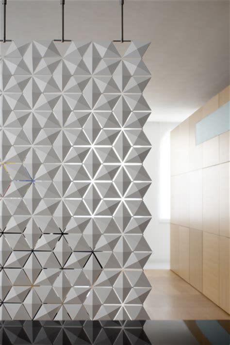 Divider Design by Contemporary Room Dividers Lightfacet Divider By Bloomming