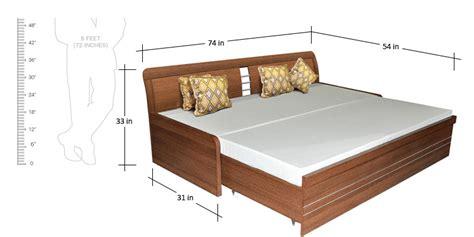 sofa cum bed size buy urbano slider storage sofa cum bed in woodpore finish
