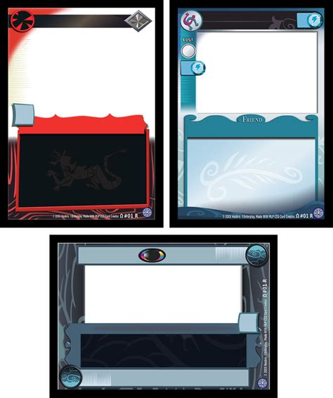 ccg card template free mlp ccg update 3 by abion47 on deviantart