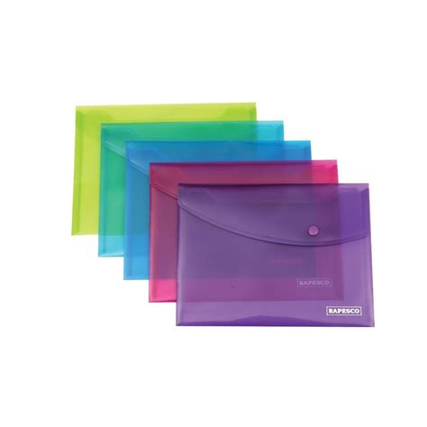 plastic envelope template 20 x rapesco a5 popper wallets plastic document wallets
