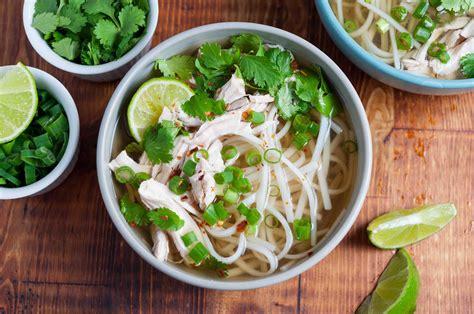 quick chicken pho vietnamese noodle soup simplyrecipes com