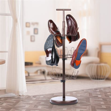 shoe tree storage 3 tier revolving shoe tree rack shoe organizer storage