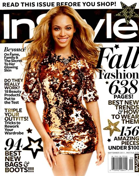 Beyonce On The Cover Of by Beyonce Covers Instyle Magazine