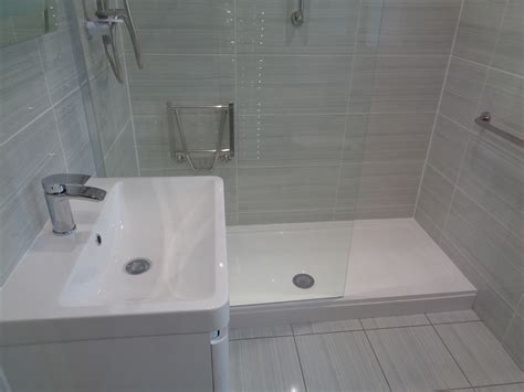 Walk In Shower Kits With Seat by Bathroom Converted To A Mobility Shower Room Tile Hill